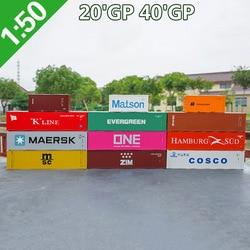 1:50 schaal Legering Speelgoed Voertuigen 20 40'GP container Model Van Kinderen Speelgoed Auto 'S Originele Geautoriseerde Authentieke Kinderen Speelgoed