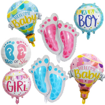 Baby Shower Decorations It's A Boy Girl Gender Reveal Balloon He or She Baby Balloon Pink Blue Birthday Party Decorations Kids image