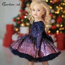 Пышные пышные платья для девочек с блестками и градиентом Детские