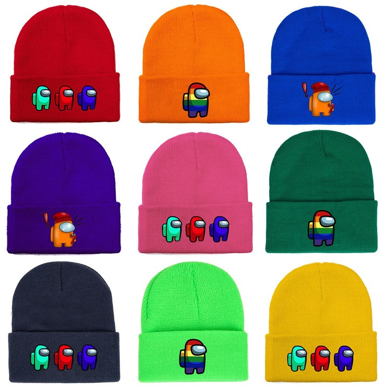 Hot Game Among Us Knitted Hat Cap Model Among Us Game Hip Hop Hat Keep Warm Gift Beanie Hats Girls Winter Hats