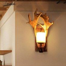 Retro industrial led wall light lighting american village resin