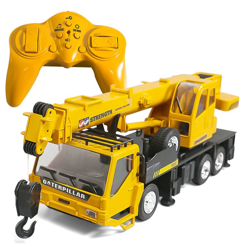 Rc Hoist Crane Model Engineering Car Toys For Children Birthday Xmas Good Gift Remote Control Freight Elevator