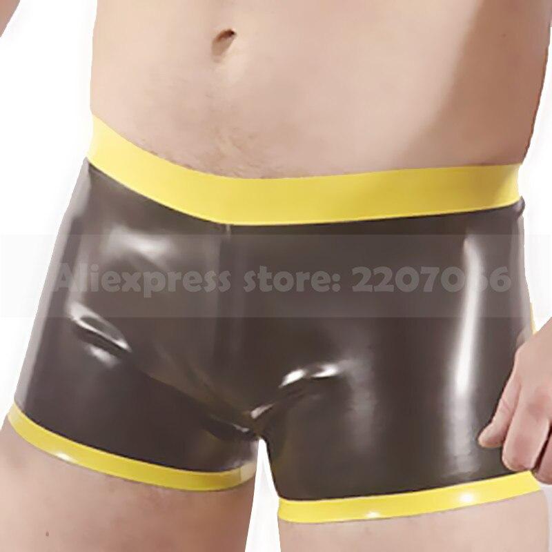 Caleçon en latex pour hommes culottes en caoutchouc pour hommes caleçon serré grande taille sous-vêtements sur mesure lingerie RPM120