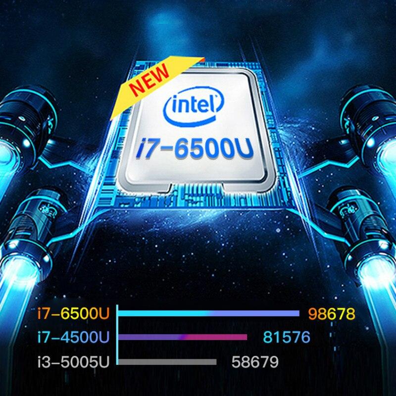 Intel i7-6500U 14 Inch Mini Metal Laptop Fashion Slim Work Business Notebook New Portable Gaming PC Computer Student Netbook 1