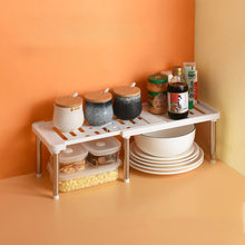 Retractable Shelf Stackable Sliding Rack Organizer Shelfs Kitchen Iron Storage Rack For Cabinets Tableware Countertops For Home