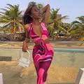 Женское платье с вырезом лодочкой, соблазнительное платье-халат 2021, праздничная Клубная одежда, облегающее Сексуальное Платье Макси