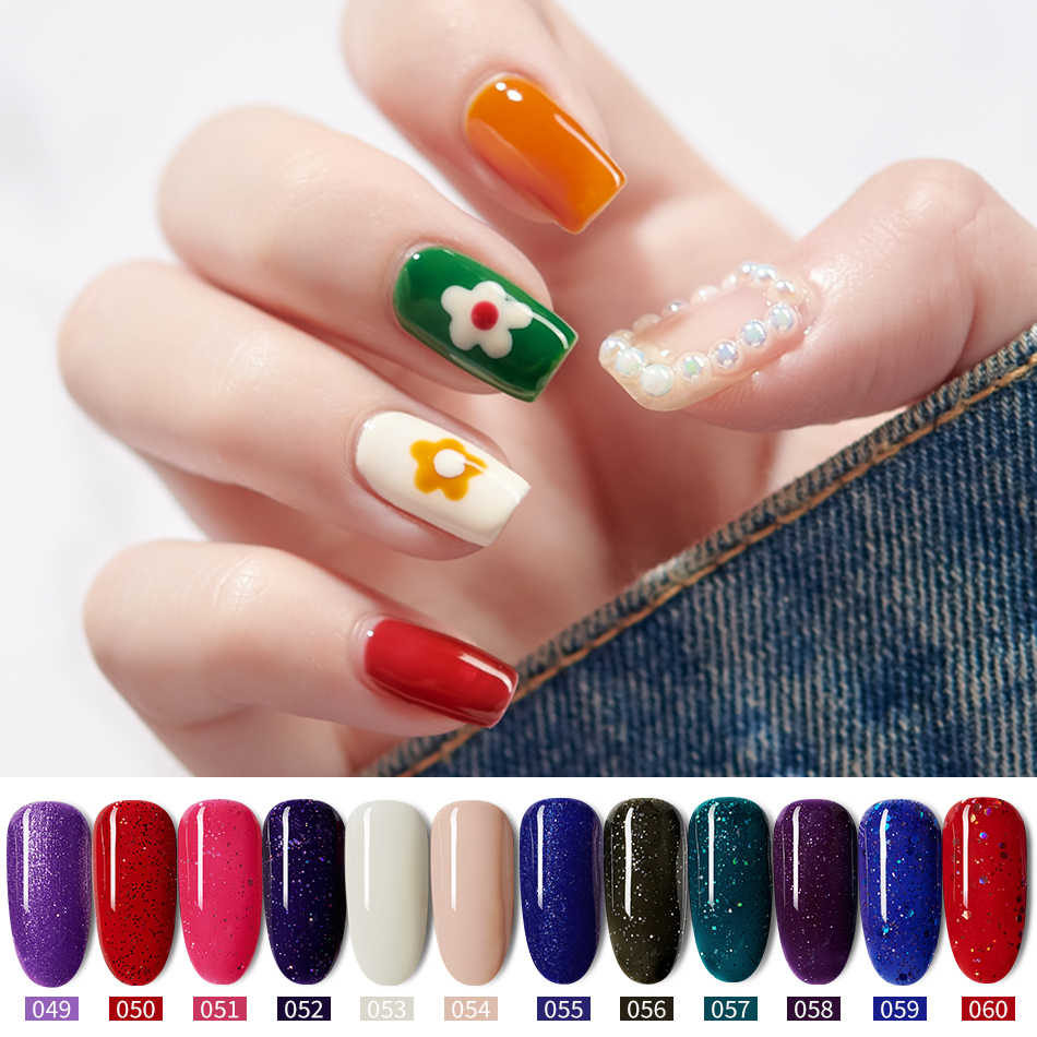 Mordda Gel Polish Nail Art Set Manicure Hybrid Kuku Warna Polygel Vernis Semi Permanen Uv Gel Cat Kuku Gel pernis