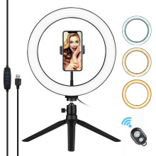 Photography 10 Inch LED Ring Light Tripod Stand Remote Control 3200K 5500K Dimmable Ringlight for tik tok Video Live Stream