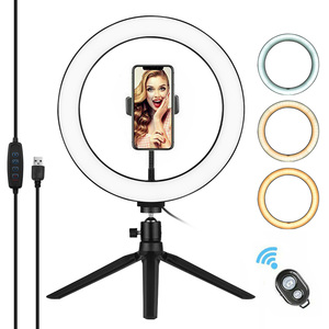 Image 1 - Photography 10 Inch LED Ring Light Tripod Stand Remote Control 3200K 5500K Dimmable Ringlight for tik tok Video Live Stream