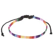 Feito à mão pulseira de tornozeleira colorida para bisexual unisex surfista praia arco-íris pulseira boho pé jóias pulsera hombre presente