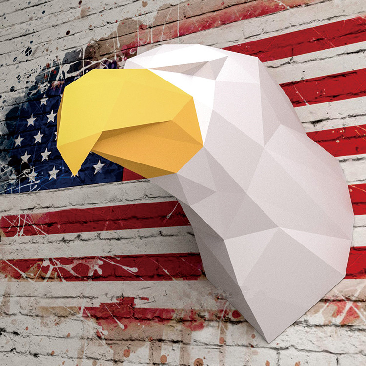 3D Paper Model White Eagle Precut Papercraft Home Decor Wall Decoration Puzzles Educational DIY Kids Toys Birthday Gift 2717