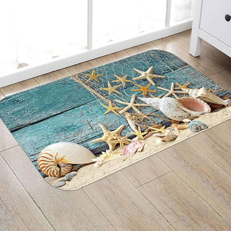 Styles Creative Europe Type 3D Printing Carpet Hallway Doormat Anti - Slip Bathroom Carpet Absorb Water Kitchen Mat/Rug