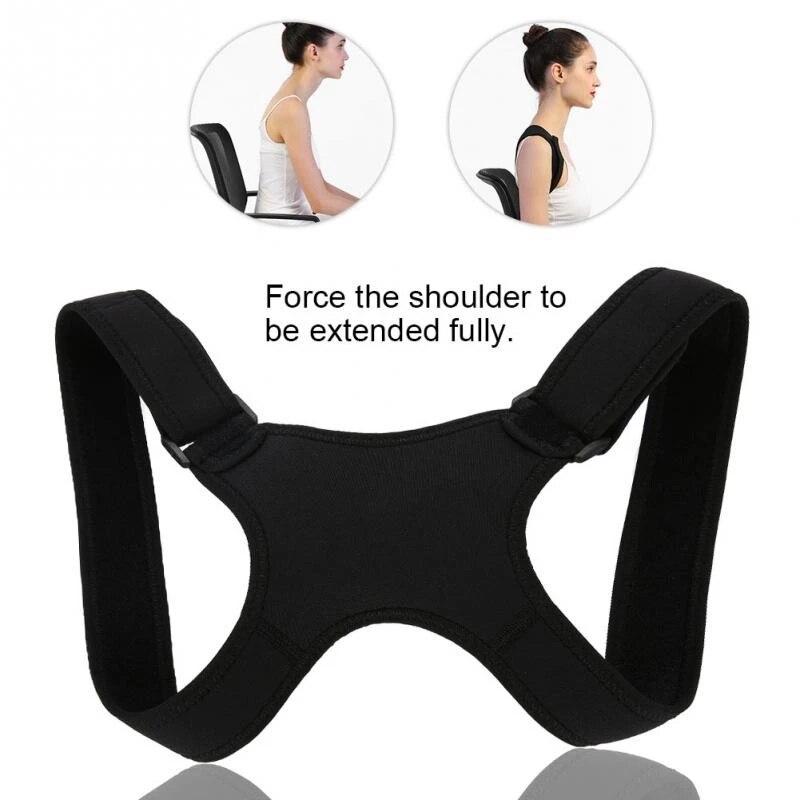 Adjustable Brace Support Belt Adjustable Posture Corrector Back Belt Posture Corrector Clavicle Spine Back Shoulder Lumbar 1