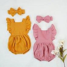 Хлопковая одежда для маленьких девочек новый летний детский
