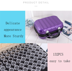 Image 3 - HUACAN New 132 Bottles Diamond Painting Storage Box Tool Diamond Embroidery Accessories Hand Bag Zipper Container