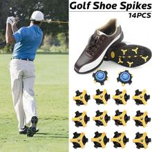 Buy 14PCS Golf Spike High-speed Twist Spike Nail Anti-skid Nail Screw Accessories Golf Shoes Spike Golf Training Equipment directly from merchant!