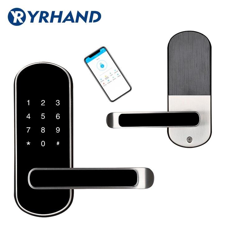 H1c0280f55afe4da085a2ae56fbc84ffaG TTlock app fingerprint smart lock, wifi App waterproof button pincode Keypad electronic door lock, biometric remote control lock
