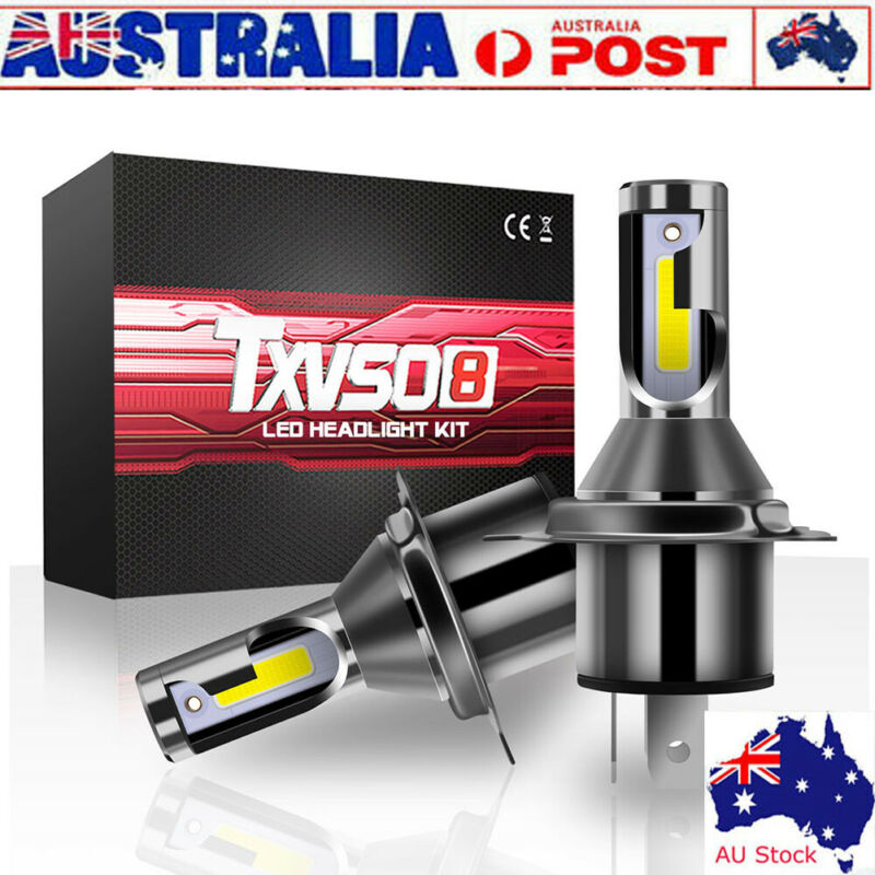 New Txvso8 2Pcs Car Headlight Cob 26000LM White <font><b>Led</b></font> Fog Light M4 <font><b>H4</b></font> Headlight AU image