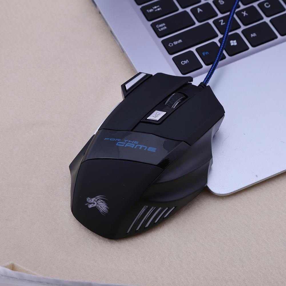 5500 ديسيبل متوحد الخواص الألعاب السلكية ماوس اكسسوارات البصرية التوصيل والتشغيل بارد 7 أزرار الكمبيوتر قابل للتعديل مريح USB دقيقة انقر Led