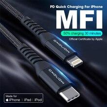 MFi USB C zu Blitz Kabel 18W PD für iPhone XS Max X 11 3A Schnelle Lade Daten für macbook iPad typ C Schnur C94 Made für IOS