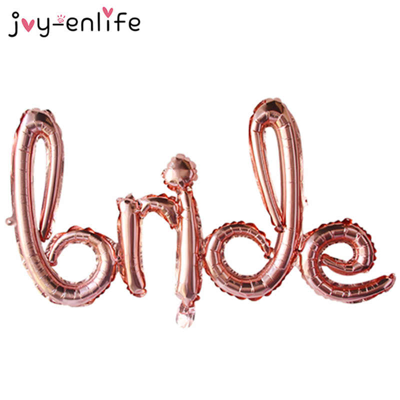 Rose Gold Theme Bride To Be Letter Foil Balloon Bachelorette Hen Party Bridal Shower Wedding Decoration Supplies
