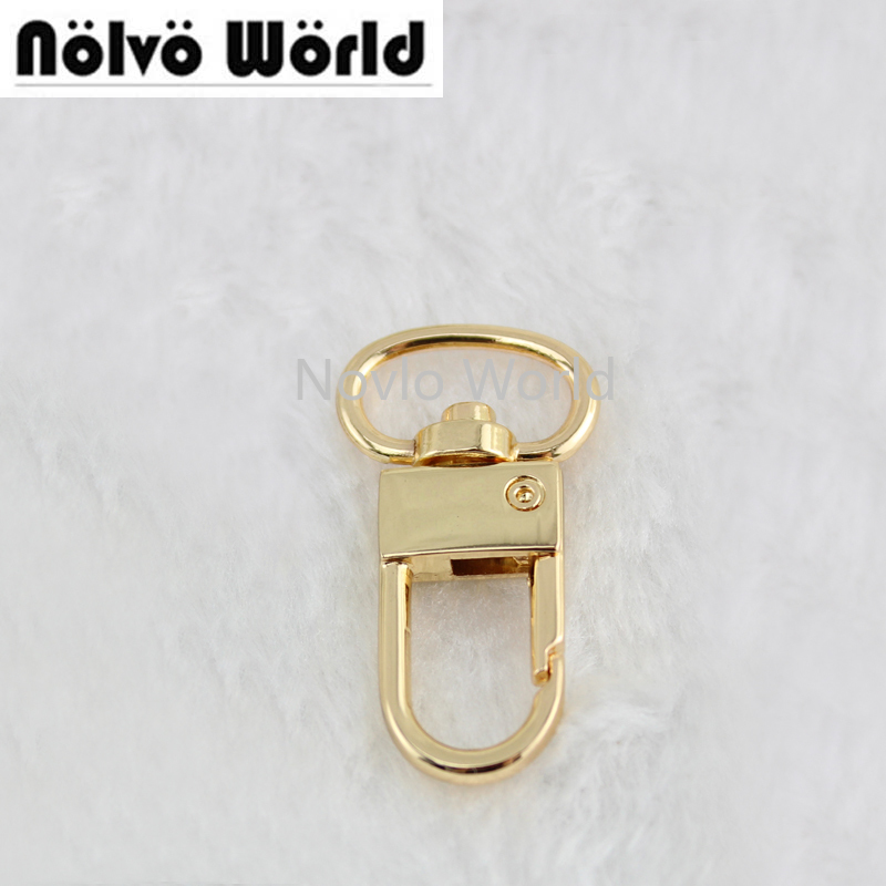Nolvo World 100pcs 6 Tone 34X13mm 0.5 Inch Metal Snap Hook, Swivel Trigger Clips Snap Hook For 13 Mm Strapping