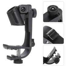 Kruste Pro 1PC Einstellbare Mikrofon Clips auf Trommel Felge Anti-shock Mount Clamp(China)