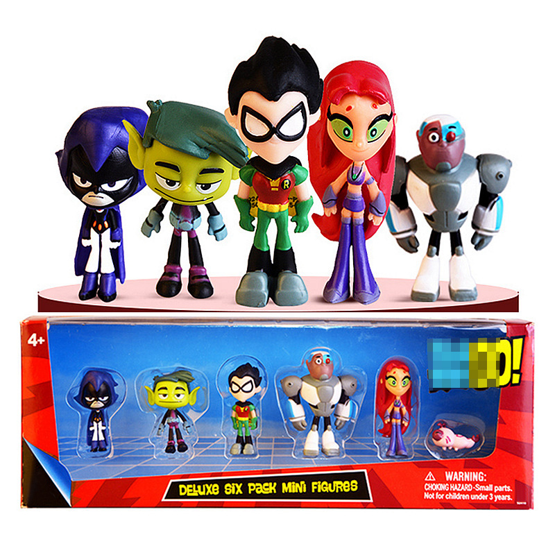 Teen 6-Pack Titans Go Toys Action Figure 2