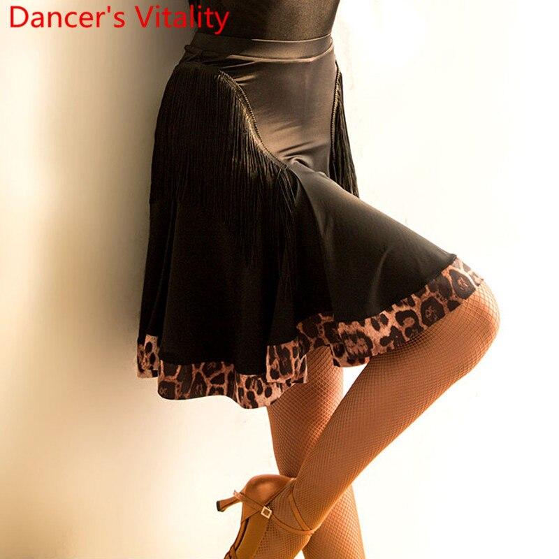 Latin Dance Practice Clothes Women Color Blocking Pleated Skirt Professional Samba Tango Cha Cha Salsa Dancing Training Outfits