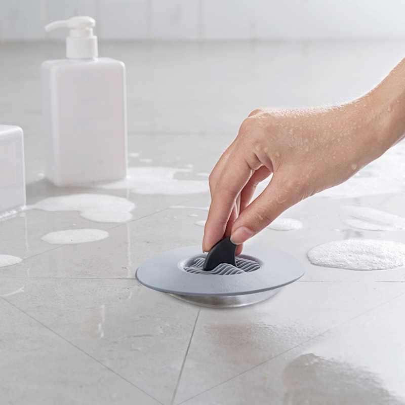 Акула силиконовая раковина сливной фильтр волосы в ванной Ловца стопор Траппер отверстие фильтр для ванной комнаты Кухня Toliet