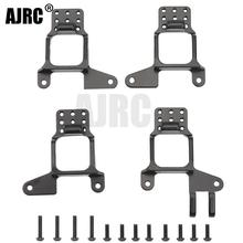 AJRC 4PCS Aluminum Front & Rear Shock Towers Mount for 1/10 RC Crawler TRX 4 Bronco k5 g500 Defender TRX4 8216 Upgrade Parts