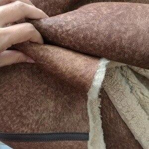 Image 4 - 2020 mode Real Schaffell Mantel Aus Echtem Leder Männliche Formale Winter Lange Dicke Jacke Schaffell Lammfell Männer Pelzmantel 4XL