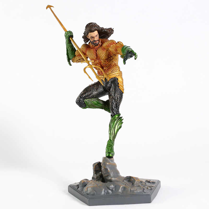 Liga Da justiça Arthur Curry Aquaman Estátua PVC Figura Collectible Toy Modelo