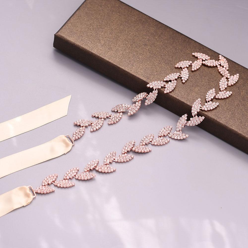 Купить с кэшбэком TRiXY S198 Stunning Wedding Belt for bride Bridal sash Silver Gold belt dress Accessories Bride Ribbon Wedding Sash Bridal Belts