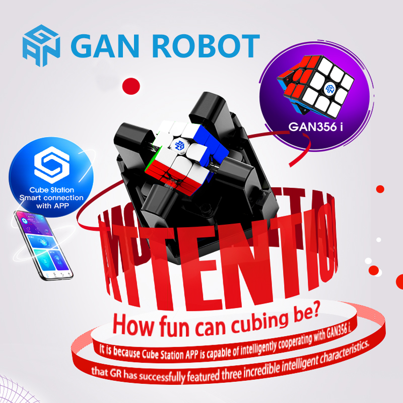 Gan Robot And Gan356i 3x3x3 Magic Speed Cube Station App GAN 356 I Magnets Online Competition GAN356 I Puzzle Cubo Magico Gans