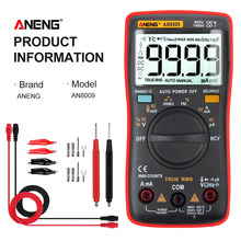 ANENG AN8009 True-RMS Digital Multimeter transistor tester capacitor tester automotive electrical capacitance meter temp diode(China)