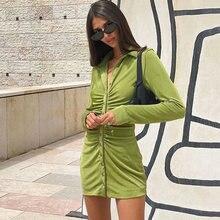 Женское Плиссированное мини платье ardm za винтажное на пуговицах