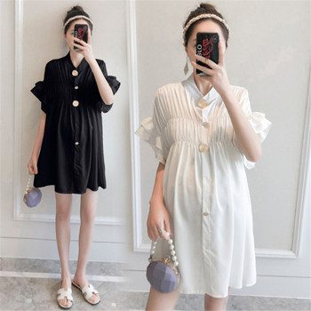 Maternity Nursing Blouse Dress Clothes 2020 New Summer Pregnant Women Chiffon Breastfeeding Dress Vestidos Pregnancy Clothings hi bloom new fashion summer maternity dress pregnant knee length clothes for pregnancy women elegant evening party vestidos
