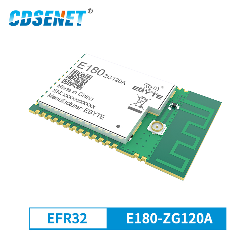 ZigBee módulo 3,0 EFR32MG1B Chip 20dBm IO Puerto transceptor inalámbrico de 2,4 GHz E180-ZG120A PCB IPEX de 32-bits ARM Cortex-A, Cortex-M4 PA