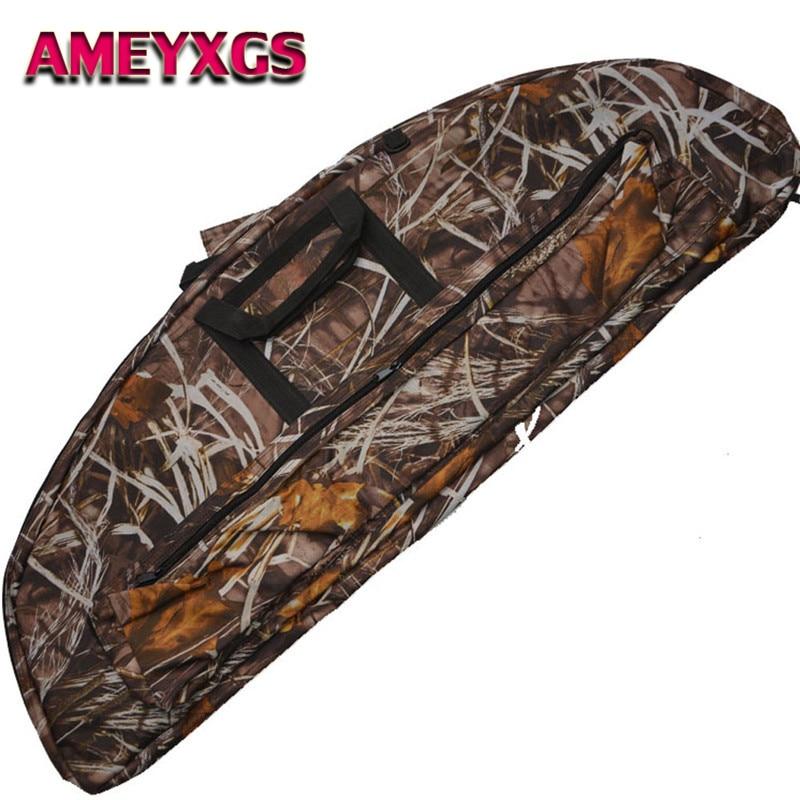 1Pc Camo 115cm Compound Bow Bag Archery Arrow Carry Bag Case Outdoor Hunting
