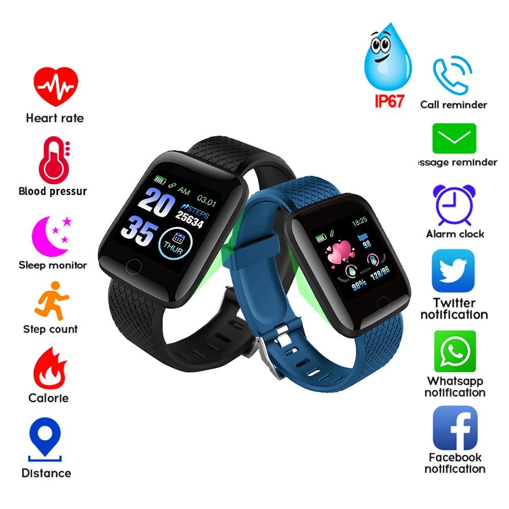Pulseira de Medição de Pressão Arterial inteligente À Prova D' Água Rastreador De Fitness Assista Heart Rate Monitor Pedômetro Inteligente Banda Mulheres Homens