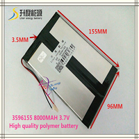 3.7V 8000mAH 3596155 Polymer lithium ion / Li-ion battery for tablet pc GPS cell phone power bank
