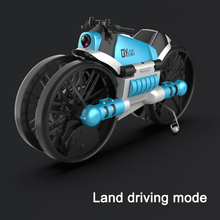 2020 2.4G 2-in-1 Land/Air Mode Foldable Deformation RC Car One Key Switch RC Quadcopter Fly Toy Gift for Children
