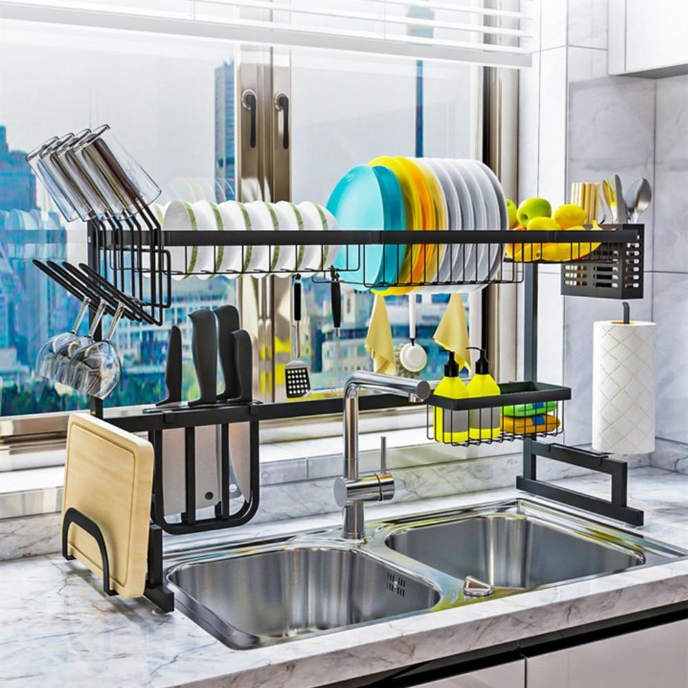 Кухонная посуда из нержавеющей стали, сушилка для сушки посуды, сушилка для раковины, сушилка для посуды, кухонная стойка для хранения, кухонный инструмент для слива