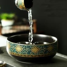 Bowl-Pot Ceramic Water-Bowl-Plant-Hydroponics Tea-Wash Purple Sand-Pen Writing-Brush