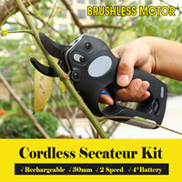 12V Wireless Cordless Electric Rechargeable Scissors Pruning Shears Tree Garden Tool branches Pruning Tools w/ 4 Li ion Battery