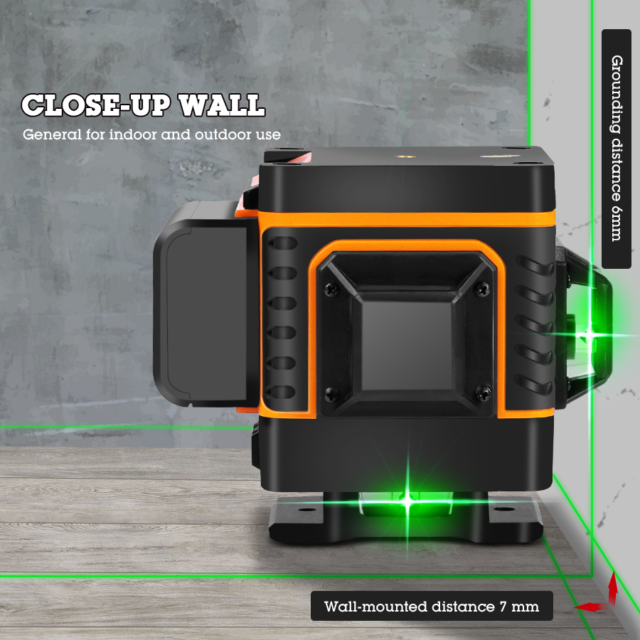 Лазерный уровень 16 линий зеленая линия 4D самонивелирующийся 360 горизонтальный и вертикальный супер мощный лазерный уровень зеленый луч лазерный уровень