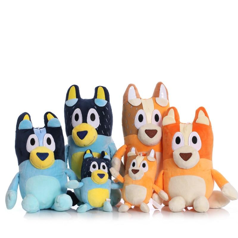 Bluey Bingo Plush Toy Cartoon Bluey Family Dad Mom stuffed plush animals kawaii plush Toys For Boys Girls Birthday Xmas Gifts