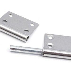 Image 3 - (1 pares) Em Aço Inoxidável Destacável dobradiça, 5 polegada Porta Dobradiça Ferragem Da Mobília (Parafusos Incluídos)