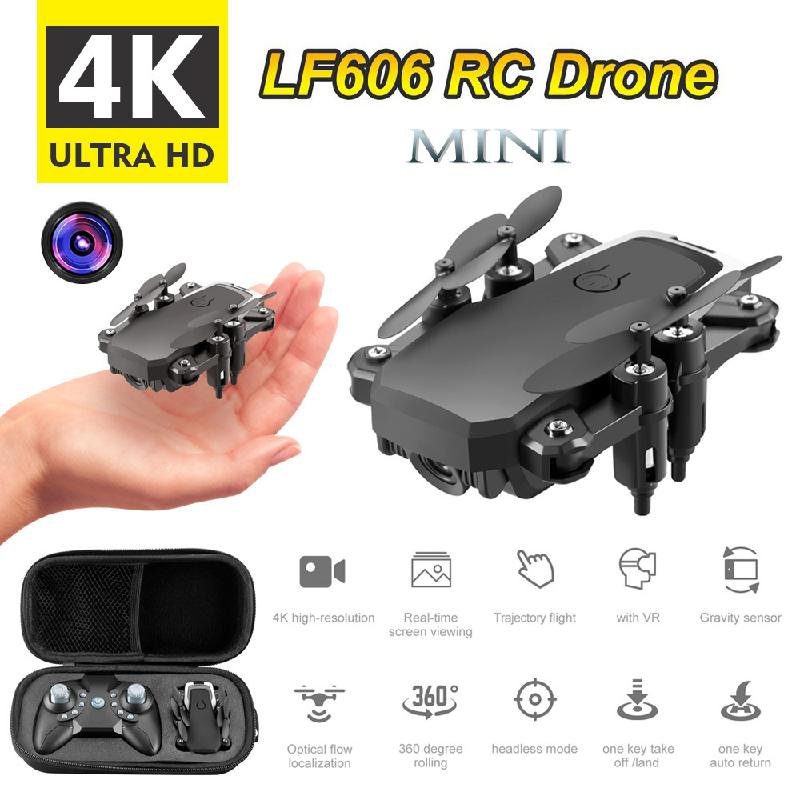 Lf606 <font><b>Micro</b></font> Uav 4k Camera Hd Optical Flow Positioning Gps Wifi Fpv Rc Folding Helicopter Quadcopter Educational Toy image